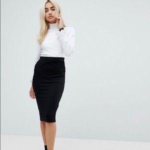 INTERMIX Textured Pencil Skirt